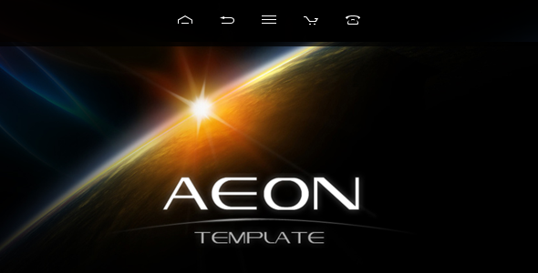AEON Futuristic Template for Joomla! - Creative Joomla