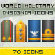 World Military Ranks Insignia Icons Pack - GraphicRiver Item for Sale