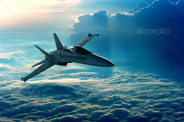Stock Photo - PhotoDune Fighter jet 2469694