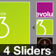 Portfolio Sliders - 4 Modern Styles - Jonified - GraphicRiver Item for Sale