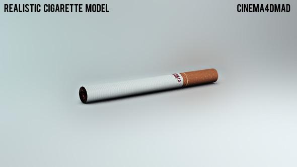 3DOcean Realistic Cigarette Model 3D Models -  Products 2278447