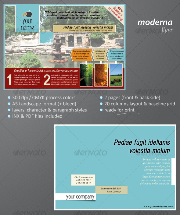 Moderna Flyer - Corporate Flyers