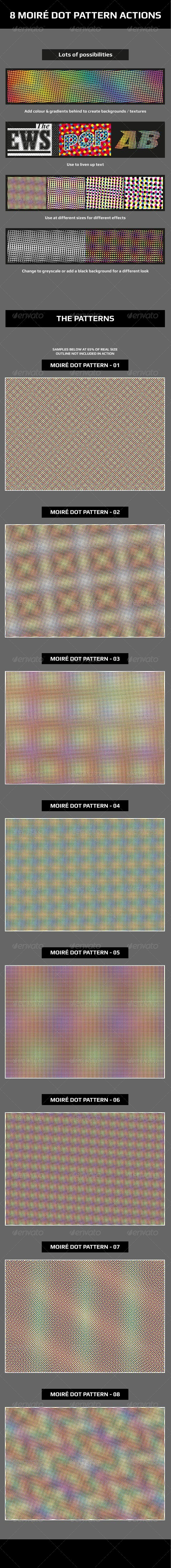 Moiré Dot Pattern Actions - Actions Illustrator