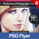 Fashion Photography PSD Flyer Poster Template - GraphicRiver Item for Sale