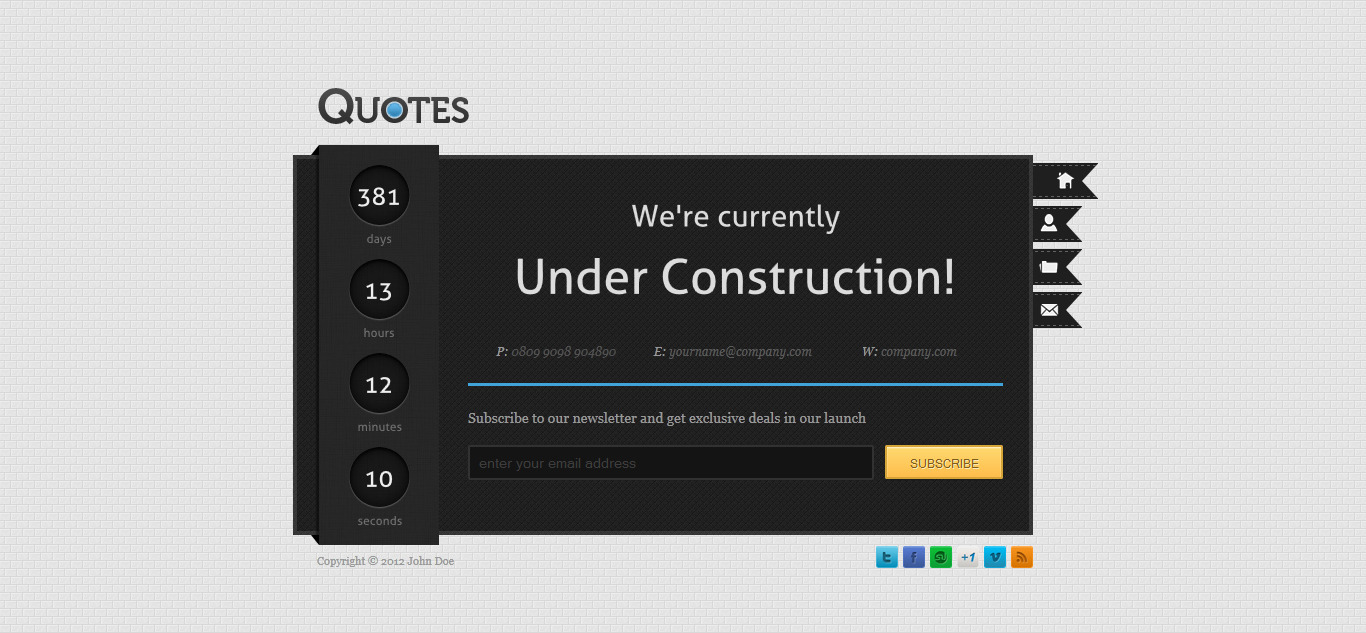 Quotes - Under Construction Page