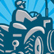 Farmer Plowing With Tractor Retro - GraphicRiver Item for Sale