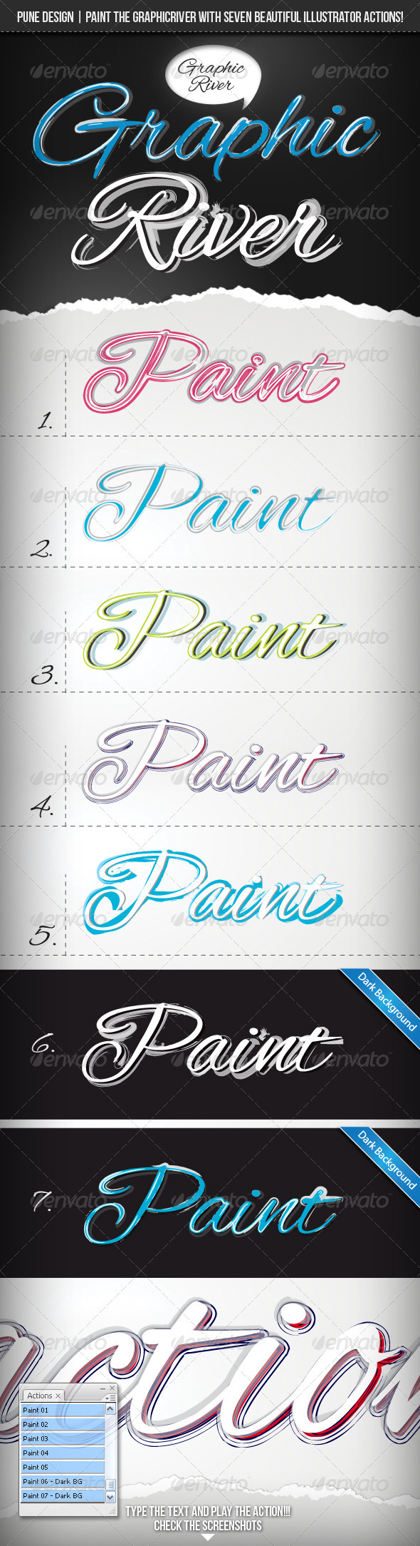 GraphicRiver Paint The River 7 Illustrator Actions 2281925