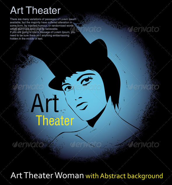 Art Theater Woman with Abstract background - People Characters