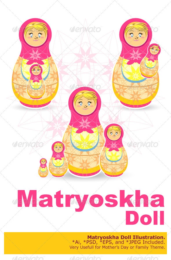 Mother's Day Matryoshka - Miscellaneous Seasons/Holidays
