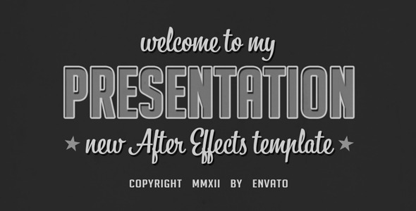 After Effects Project - VideoHive Old presentation 2273984