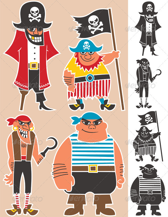 Pirates - Characters Vectors