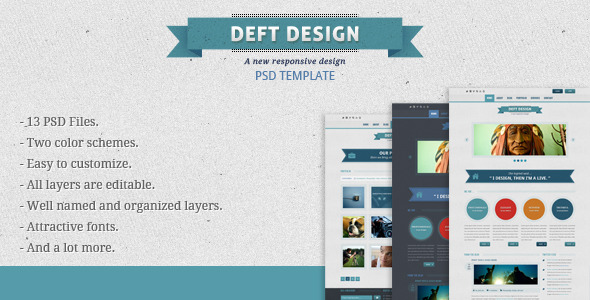 Deft Design - Light And Dark Template