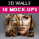 3D Wall Photo Mock-Ups 2 - GraphicRiver Item for Sale