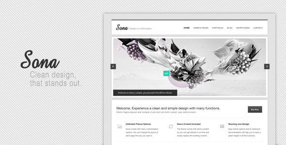 Sona Clean WordPress Theme
