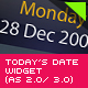 Todays Date Widget - ActiveDen Item for Sale