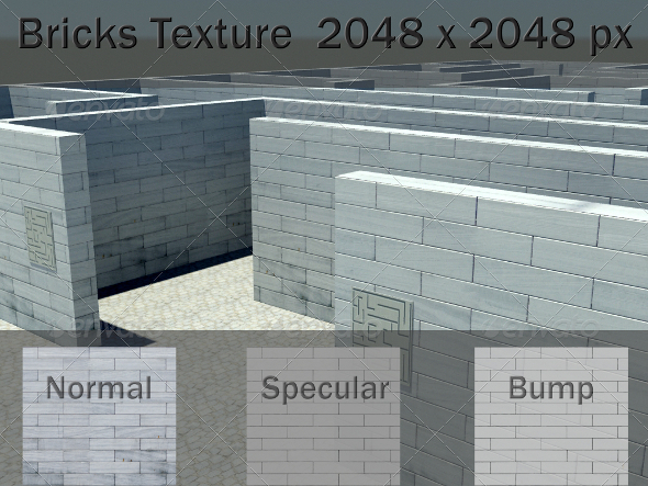 Bricks Texture - 3DOcean Item for Sale