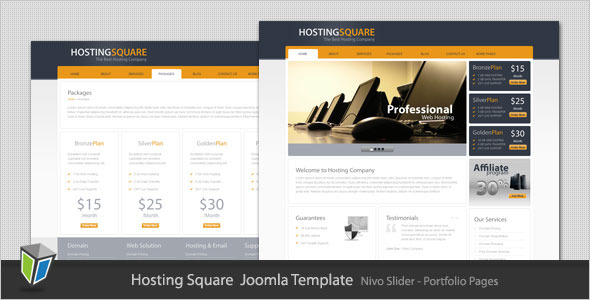 Hosting Square - Web Hosting Joomla Template