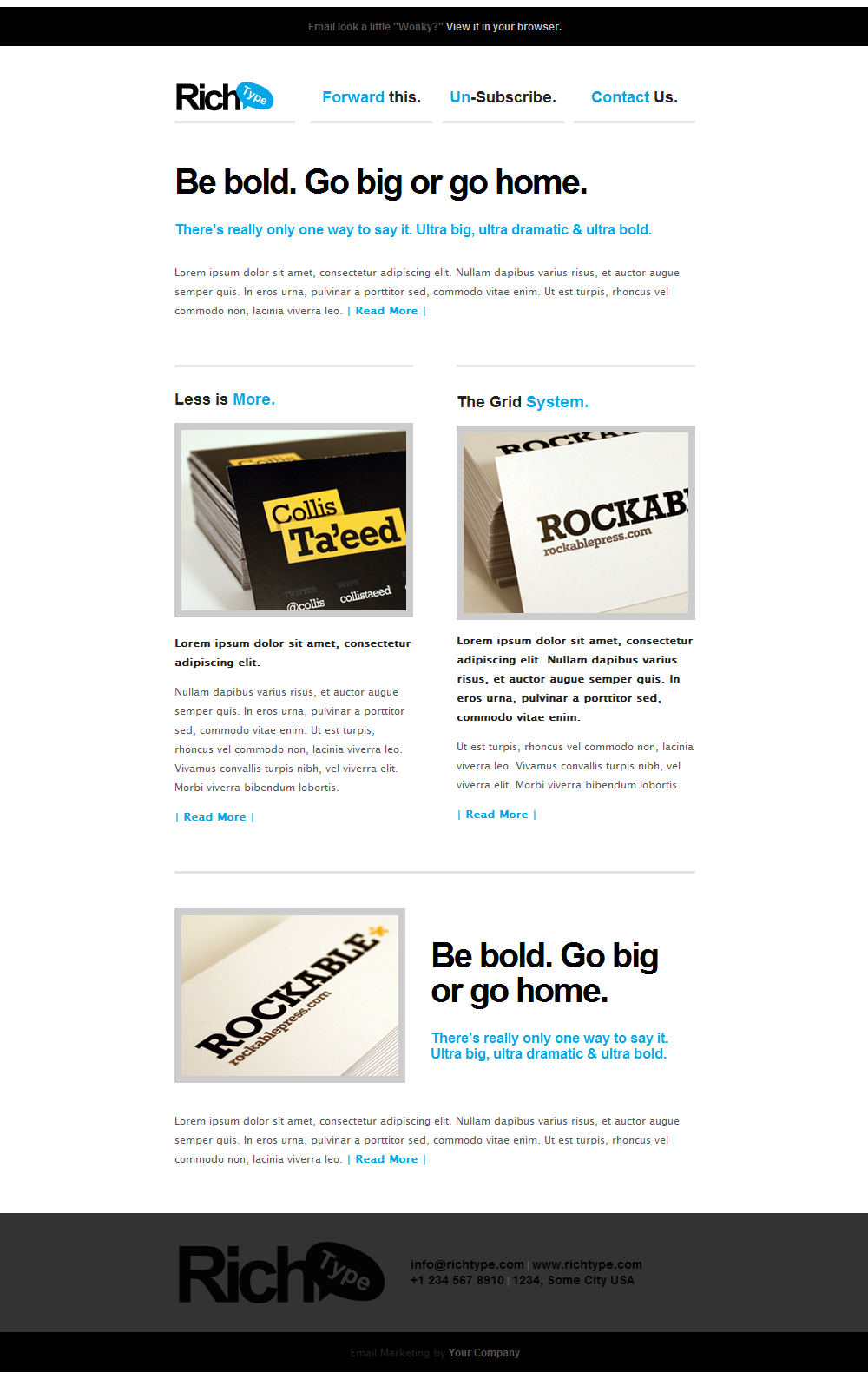 Rich Typography Email Template