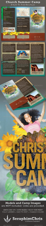 summer camp brochure template - church brochure examples joy studio design gallery