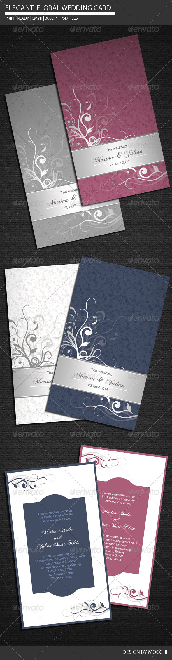 Elegant Floral Wedding Card - Weddings Cards &amp; Invites