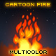 Cartoon Multicolor Fire - ActiveDen Item for Sale