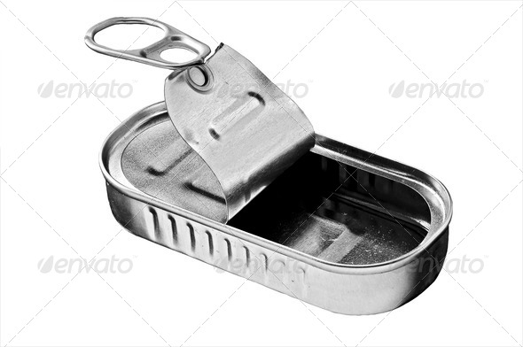 empty tin - Stock Photo - Images