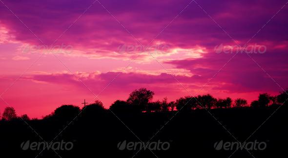 PhotoDune purple sky 4082641