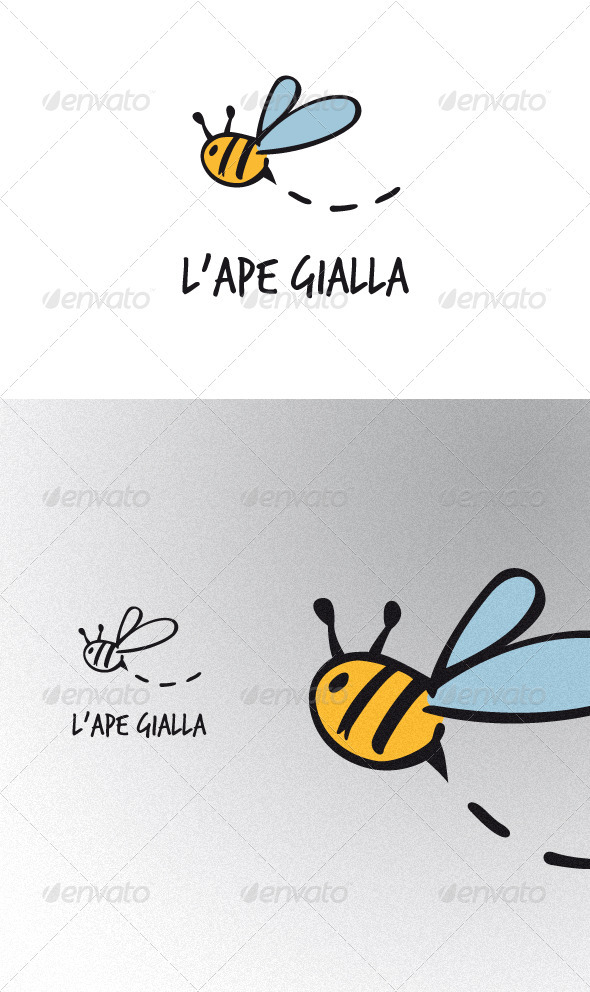 Ape Gialla - Animals Logo Templates