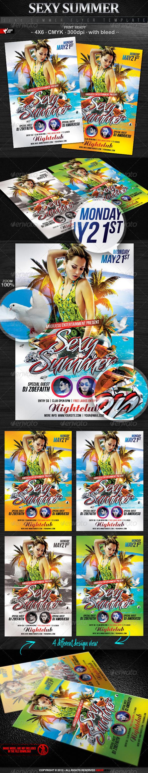 Flyers para Fiestas de Verano: Sexy Summer Flyer