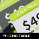 7 Pricing tables - Pack 2 - GraphicRiver Item for Sale