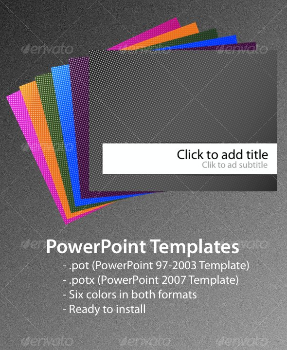GraphicRiver Dots PowerPoint Templates 85554