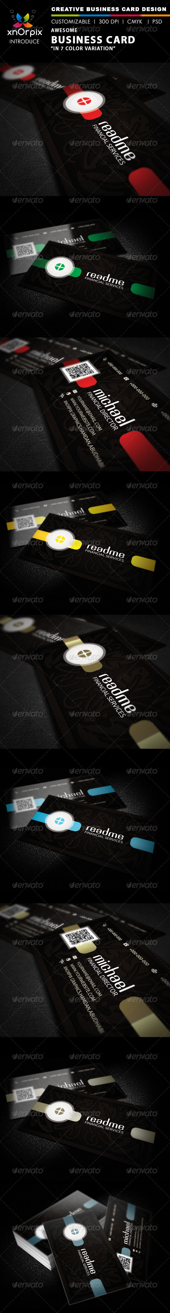 Dark Business Card - Corporate Business Cards