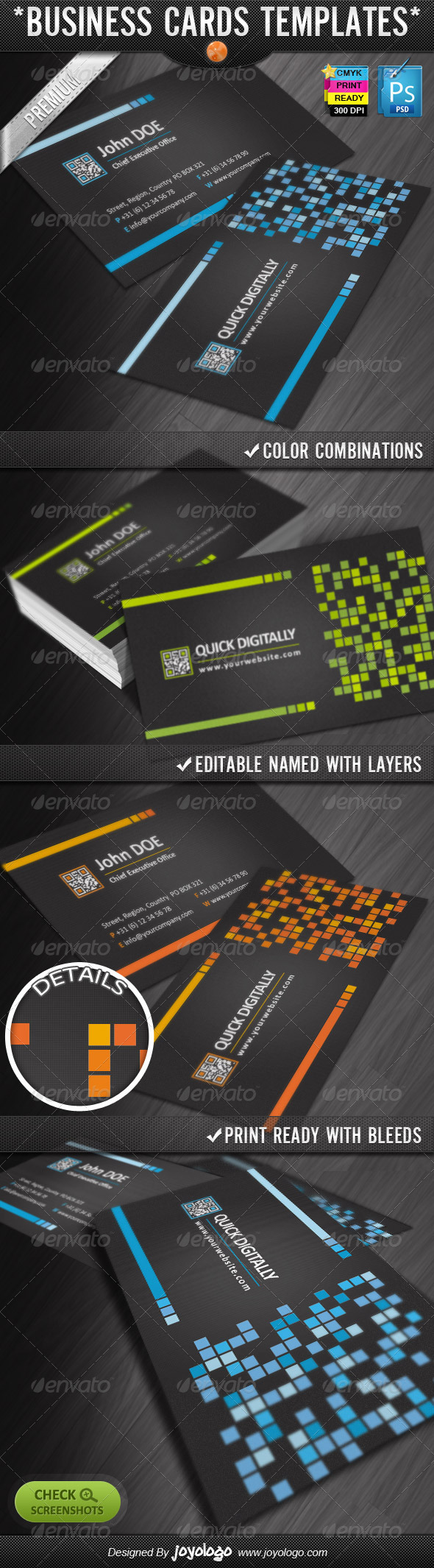 Digitally Quick Response Business Cards Designs - Creative Business Cards