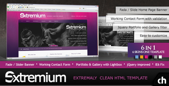 Extremium - 6 in 1 Extremely Clean HTML Template - Extremium Template - Preview