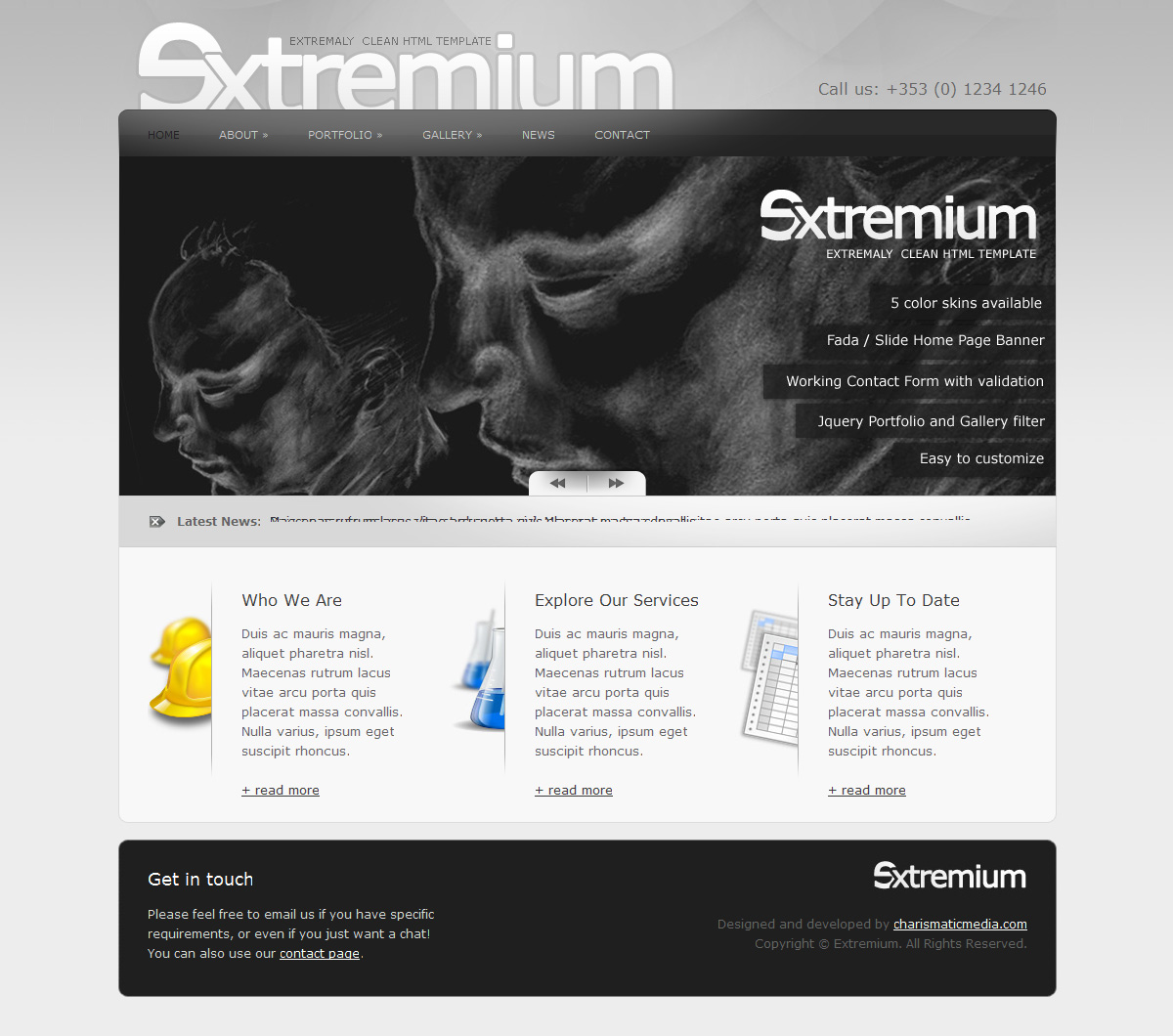 Extremium - 6 in 1 Extremely Clean HTML Template - Extremium Home Page - Light