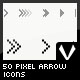 50 Pixel Arrow Icons - GraphicRiver Item for Sale