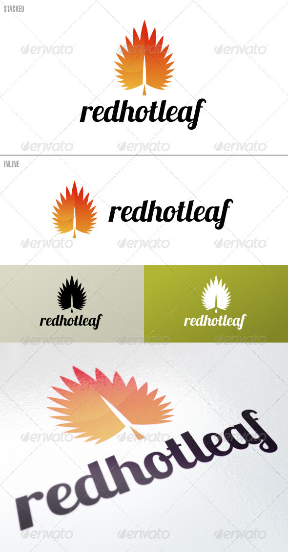 RedHotLeaf  Logo Template - Nature Logo Templates