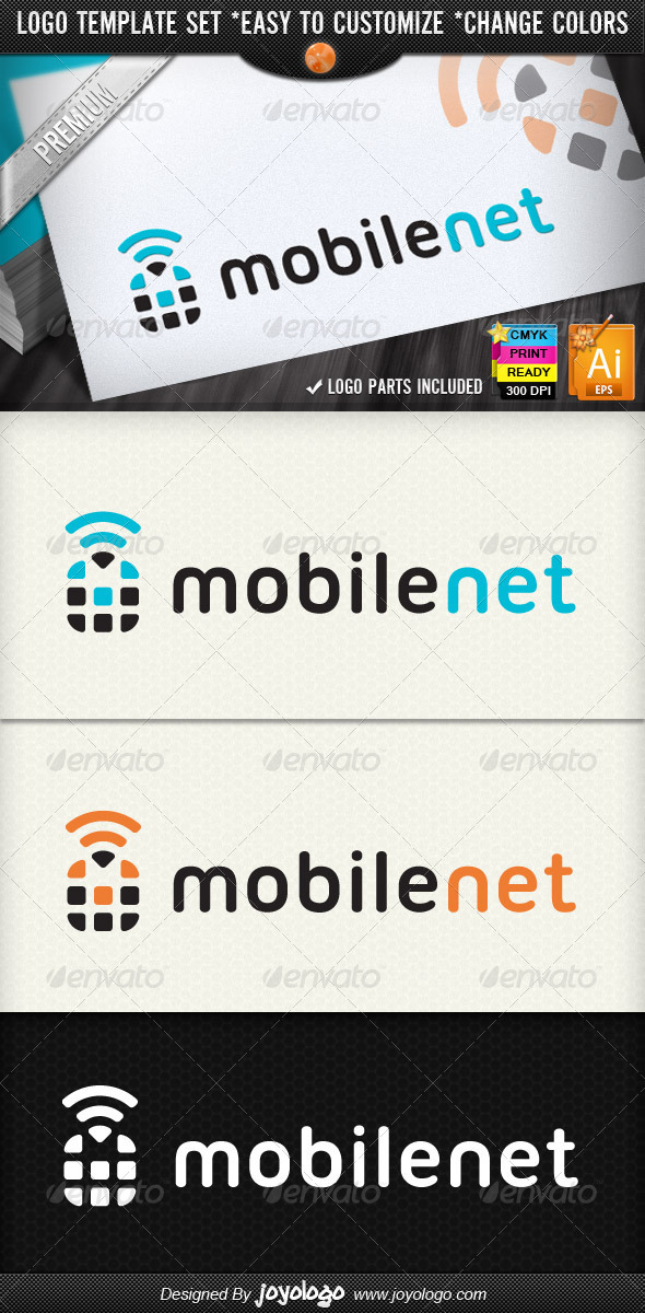 GraphicRiver Smart Phone Framework Mobile Networking Logos 2304746