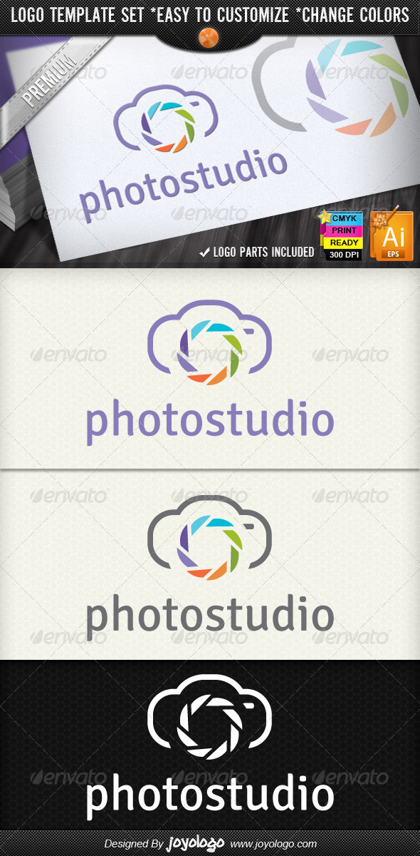 Photographer Camera Photo Studio Logo Design - Objects Logo Templates