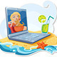 The Laptop On The Beach - GraphicRiver Item for Sale