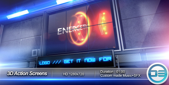 After Effects Project - VideoHive 3D Action Screens 261297