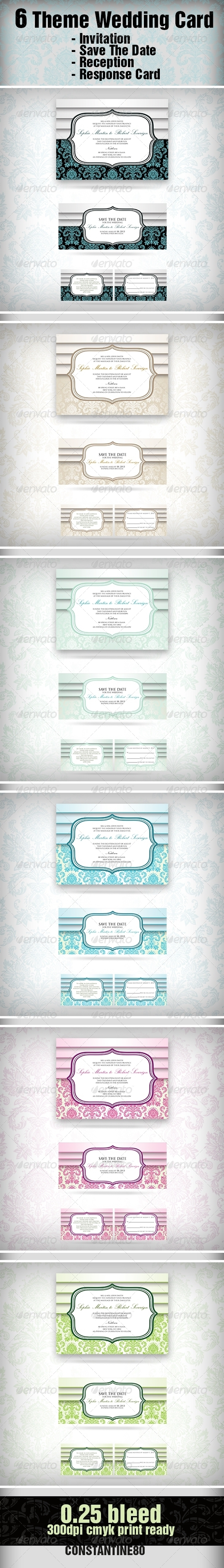 6 Theme Wedding Card - Weddings Cards & Invites