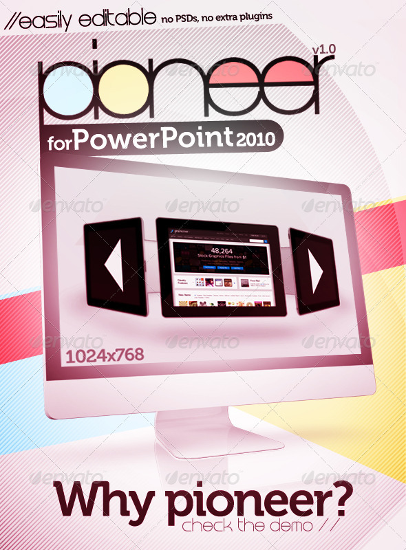 Pioneer PowerPoint 2010 Template - Creative Powerpoint Templates