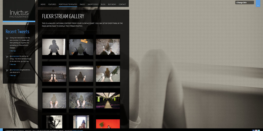 Invictus - A Premium Photographer Portfolio Theme