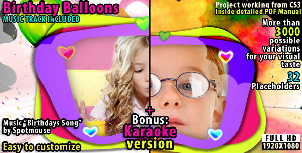 After Effects Project - VideoHive Birthdays Balloons 2310572