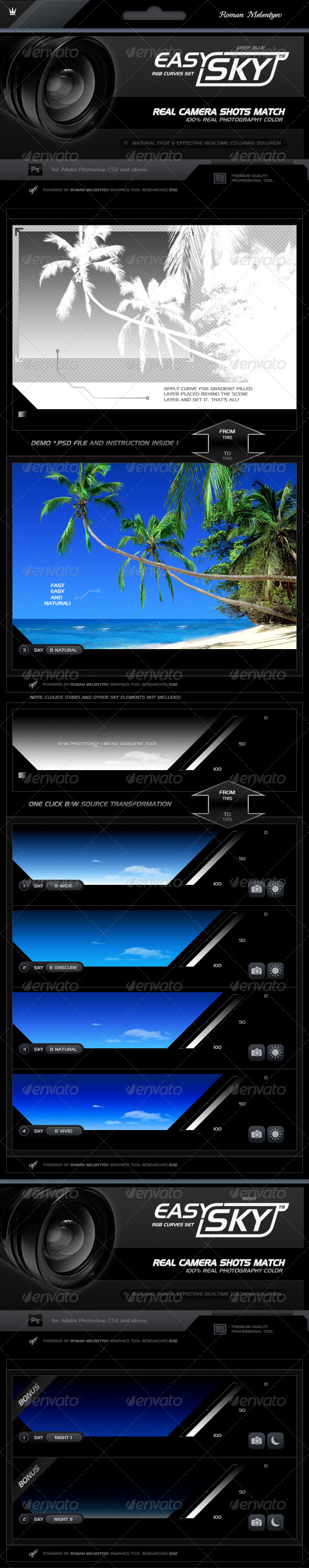 Graphicriver RGB Curves Professional Easy Sky