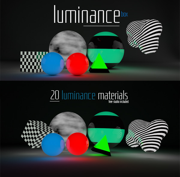 20 Luminance materials  - 3DOcean Item for Sale