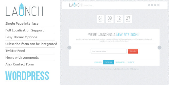 ThemeForest Launch Wordpress Theme 2310982