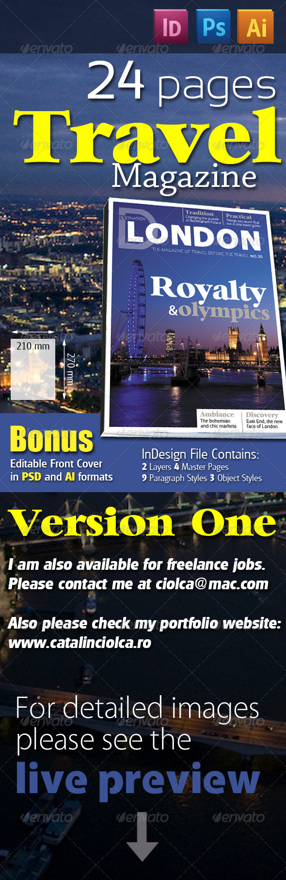 24 Pages Travel Magazine Version One - Magazines Print Templates