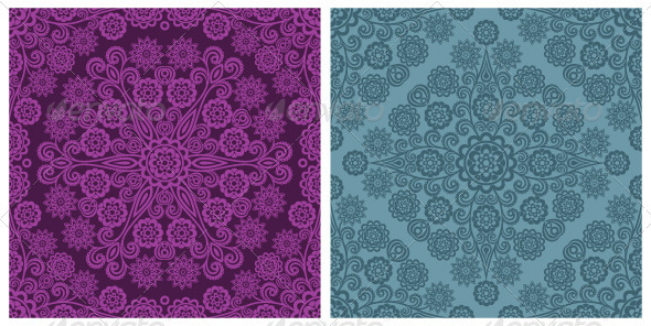 Seamless floral patterns - Patterns Decorative